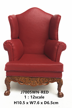 Georgian 19 C Wing Chair-walnut - Click Image to Close