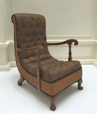 Vintage Art Deco Upholstered Arm Chair 1935-1940